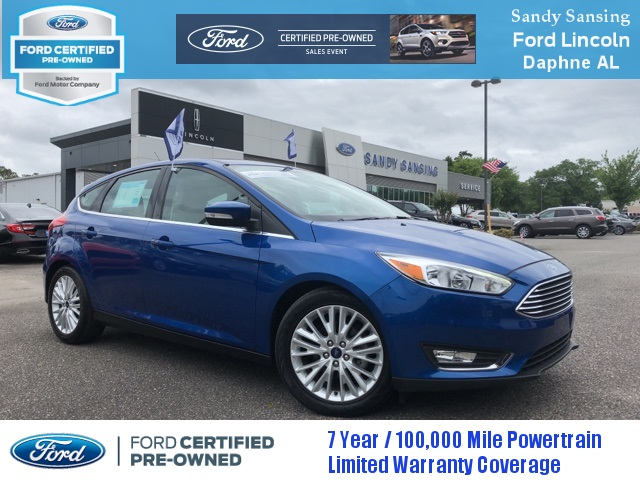 Ford Certified Pre Owned >> Certified Pre Owned 2018 Ford Focus Titanium 4d Hatchback In