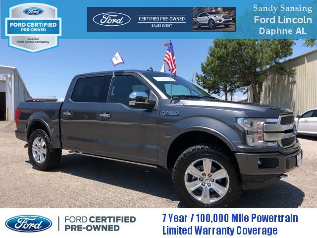 Ford Certified Pre Owned >> Certified Pre Owned 2018 Ford F 150 Platinum 4d Supercrew In