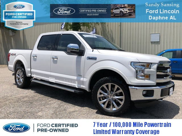 Ford Certified Pre Owned >> Certified Pre Owned 2015 Ford F 150 Lariat 4d Supercrew In Pensacola